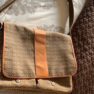 Signature coach lap top bag or diaper bag